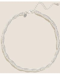 Marks & Spencer Chunky Twist Chain Necklace - Metallic