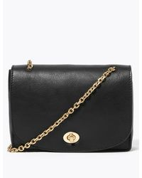 Marks & Spencer M&s Collection Leather Cross Body Bag - Black