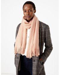 Marks & Spencer Brushed Knit Scarf - Pink