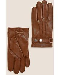Marks & Spencer Luxury Italian Leather Gloves - Brown