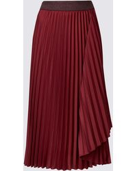 c1191a443d Marks & Spencer Pleated A-line Midi Skirt in Green - Lyst