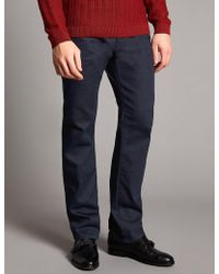 Marks & Spencer | Straight Fit Stretch Jeans | Lyst
