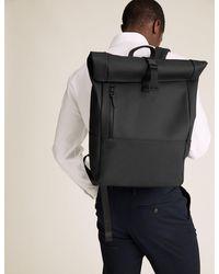 Marks & Spencer Rubberised Rolltop Backpack - Black