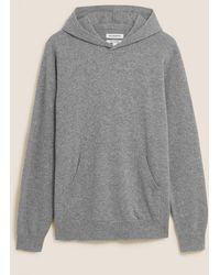 Marks & Spencer Autograph Pure Cashmere Knitted Hoodie - Grey