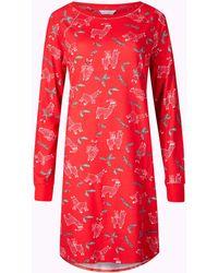 Marks & Spencer - Cotton Rich Llama Print Nightdress - Lyst