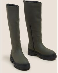Marks & Spencer Chunky Cleated Knee High Boots - Multicolour