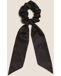 Marks & Spencer Satin Bow Scrunchie - Black