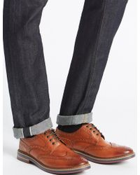 Marks & Spencer - Leather Trisole Brogue Shoes - Lyst