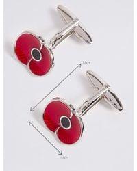 Marks & Spencer Poppy Collection® Poppy Cufflinks - Red