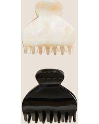 Marks & Spencer 2 Pack Tortoiseshell Bulldog Hair Clips - Black