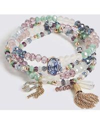 Marks & Spencer | Iced Gem Stretch Bracelet | Lyst