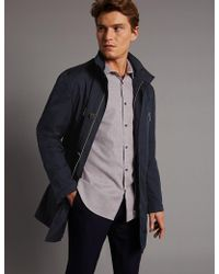 Marks & Spencer - Funnel Neck Mac With Stormweartm - Lyst