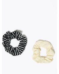 Marks & Spencer 2 Pack Striped Hair Bands - Metallic