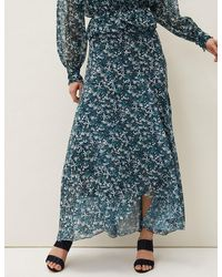 Marks & Spencer Phase Eight Floral Maxi Skirt - Blue