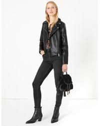 Marks & Spencer Faux Fur Mini Backpack - Black