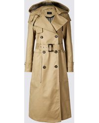 Marks & Spencer - Cotton Rich Trench Coat - Lyst