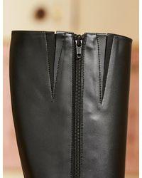 Marks & Spencer Sosandar Leather Knee High Boots - Black