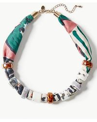 9a71b5a6c Marks & Spencer - Fabric Bead Necklace - Lyst