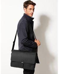 Marks & Spencer Leather Formal Briefcase - Black