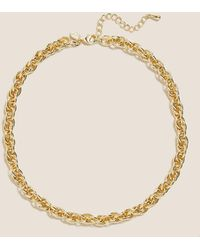 Marks & Spencer Chunky Chain Necklace - Metallic