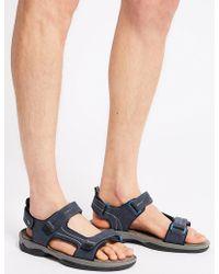 Marks & Spencer Riptape Sandals - Blue