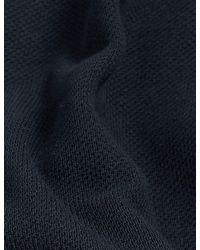 Marks & Spencer Jaeger Pure Cotton Jersey Half-zip Sweatshirt - Blue