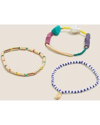 Marks & Spencer 3 Pack Mixed Beaded Bracelets - Multicolor