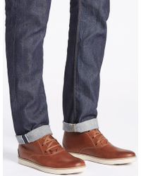 Marks & Spencer - Leather Lace-up Chukka Boots - Lyst