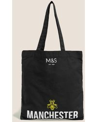 Marks & Spencer Canvas Manchester Bee Tote Bag - Black