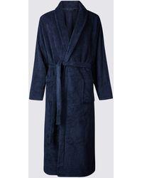 Marks & Spencer - 2in Longer Supersoft Fleece Dressing Gown - Lyst