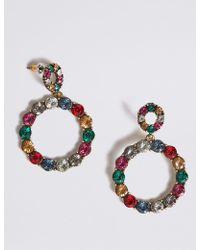 Marks & Spencer - Mini Bling Hoop Earrings - Lyst