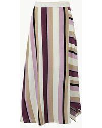 aa53574c62 Marks & Spencer Mesh Straight Midi Skirt in Pink - Lyst