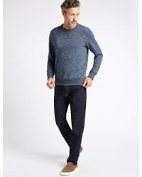 Marks & Spencer - Tapered Fit Stretch Jeans - Lyst