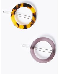 Marks & Spencer 2 Pack Round Hair Clips - Multicolor
