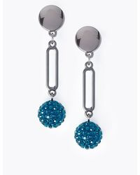 Marks & Spencer Disco Ball Drop Earrings - Blue
