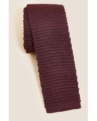 Marks & Spencer Skinny Square End Knitted Tie - Multicolour