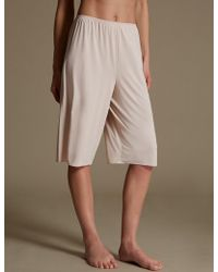 Marks & Spencer - Culottes With Cool Comforttm Technology - Lyst