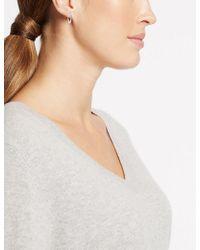 Marks & Spencer - Silver Plated Long Twist Hoop Earrings - Lyst