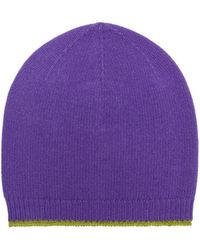 Marni - Hat In Purple And Acid Green Virgin Wool, Mohair And Nylon - Lyst