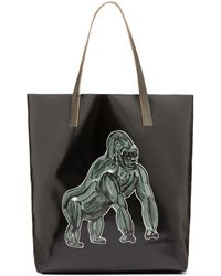 Marni - Tote Bag In Pvc With Gorilla Print By Frank Navin - Lyst