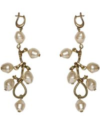 Marni - Screw Earrings In Metal, Pearl And Glass - Lyst