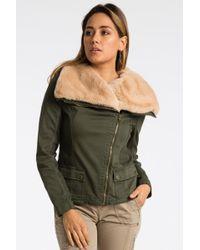 Marrakech - Lin Fur Collar Wrap Jacket - Lyst