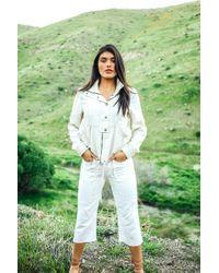 Marrakech Tau Wide Leg Crop Pant - White