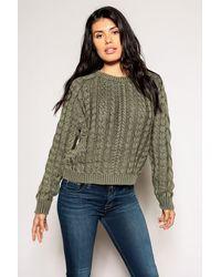 Marrakech Sarah Cable Knit Sweater - Green