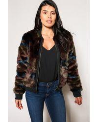 Marrakech Alyssa Faux Fur Jacket - Multicolor