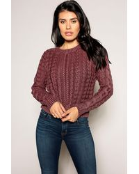 Marrakech Sarah Cable Knit Sweater - Multicolor