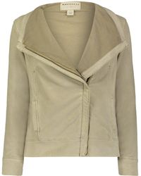 Marrakech Kellie Suede French Terry Moto Jacket - Natural