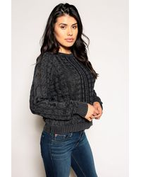 Marrakech Sarah Cable Knit Sweater - Black
