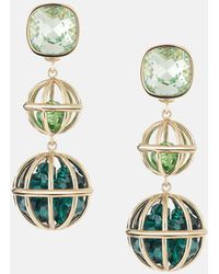 Mary Katrantzou - Nostalgia Double Drop Earrings Light Multi - Lyst