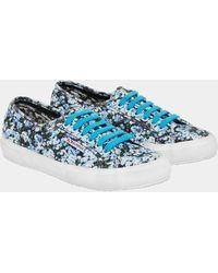 Mary Katrantzou Superga X Mk Canvas Sneakers Blue Strip Valley